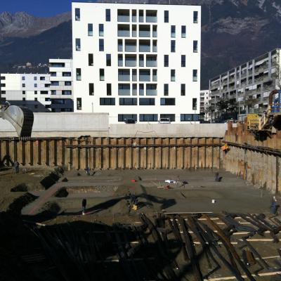 Baugrube Eugenpark